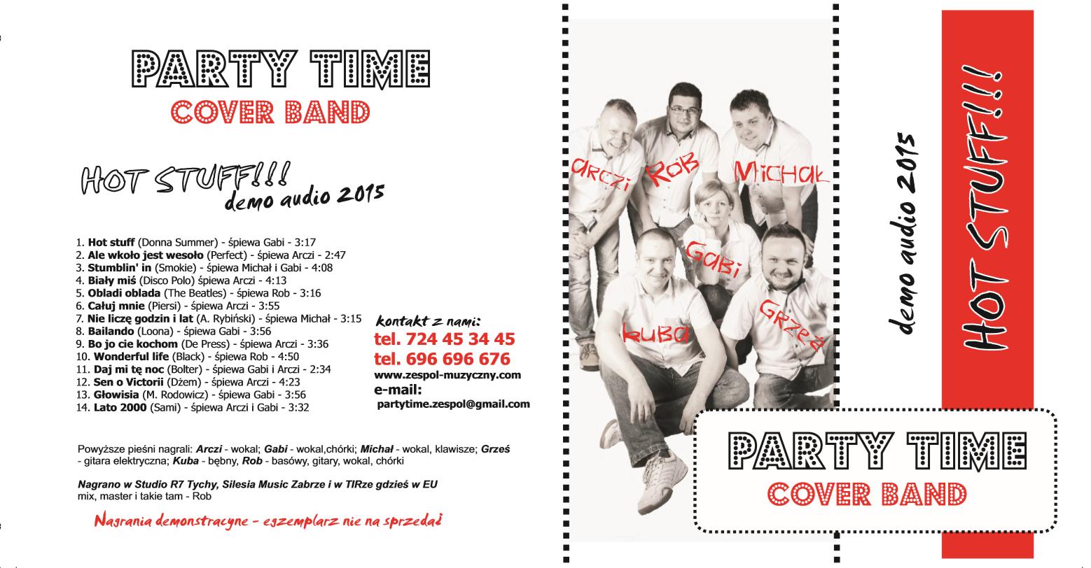 Okładka Pierwszej Płyty Party Time Cover Band